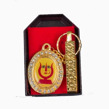 Rani Sati Dadi Oval Shape Both Side Photo Key-chain Pack of 100 Pieces
