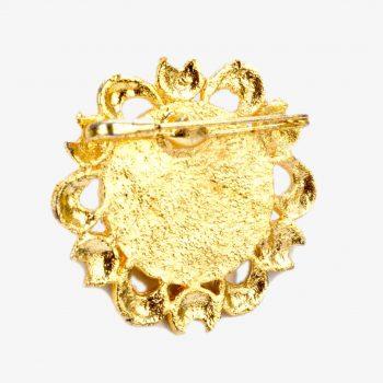 Rani Sati Dadi Rose Shape Medium Size Jari Brooch Pack of 100 Pieces