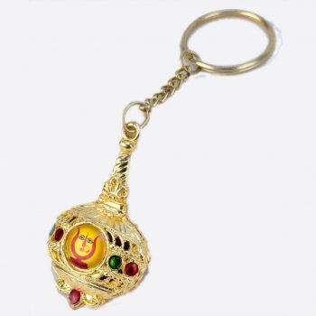 Rani Sati Dadi Gada Shape Both Side Photo Key-chain Pack of 100 Pieces