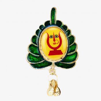 Rani Sati Dadi Leaf Shape Brooch Pack of 100 Pieces