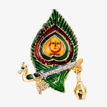 Rani Sati Dadi Mor Pankh Shape Jari Brooch Pack of 100 Pieces