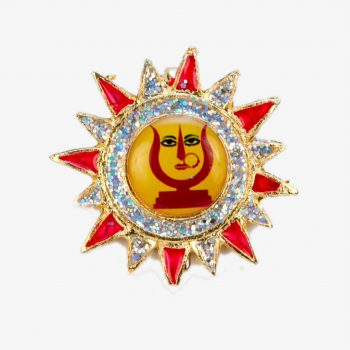 Rani Sati Dadi Sun Shape Brooch Pack of 100 Pieces