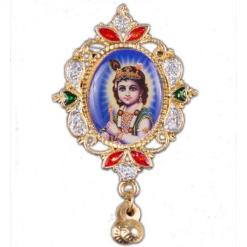 Bal Gopal Oval Shape Mirror Brooch Pack of 100 Pieces