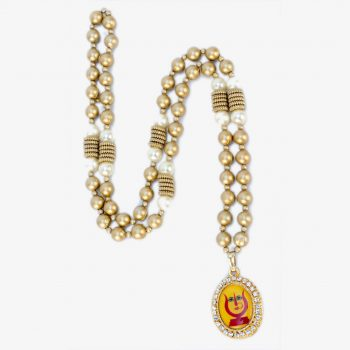 Rani Sati Dadi Swagat Mala Gold Pearl With Pendant ₹ 48 / piece (Pack of 100 Pieces)