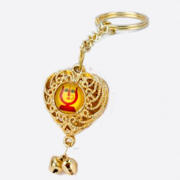 Rani Sati Dadi Heart Shape Both Side Photo Key-chain Pack of 100 Pieces