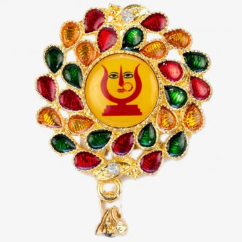 Rani Sati Dadi Flower Shape Multicolour Brooch Pack of 100 Pieces