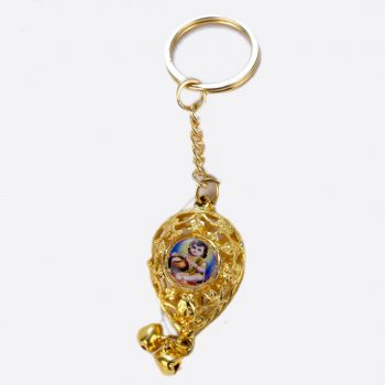 Bal Gopal Badam Shape Both Side Photo Key-chain Pack of 100 Pieces