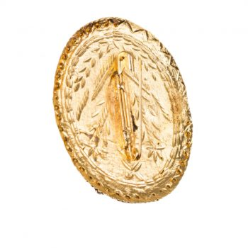 Bal Gopal Oval Shape Big Size Diamond Brooch Pack of 100 Pieces