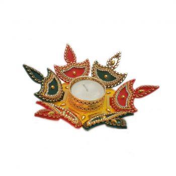 3D Multi-colour Rangoli Diya Pack of 10 Pieces