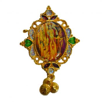 Ram Darbar Oval Shape Mirror Brooch Pack of 100 Pieces