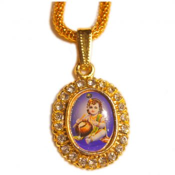 Bal Gopal Oval Shape 24 Diamond Pendant Pack of 100 Pieces